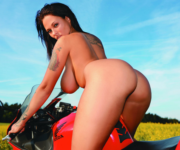 Domino Delicious:Busty Domino is ready to ride you off into the sunset
